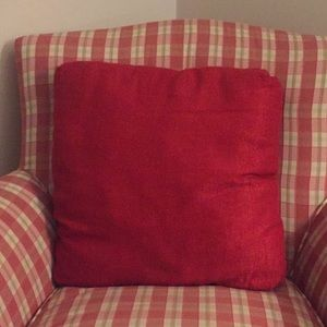 Red Pier 1 Imports Accent Pillow